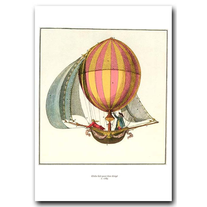 Fine art print for sale. Balloon With Sails In 1785