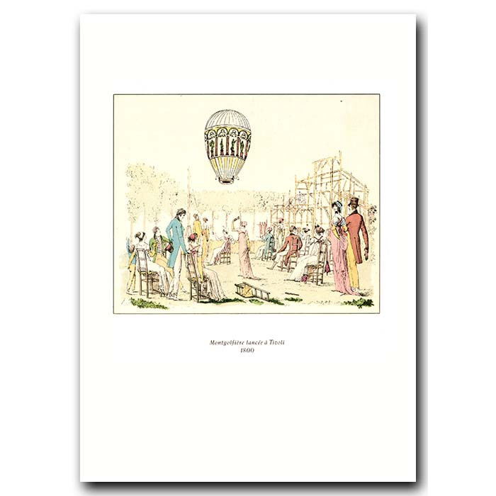 Fine art print for sale. Balloon Of The Montgolfier Brothers In Italy In 1800