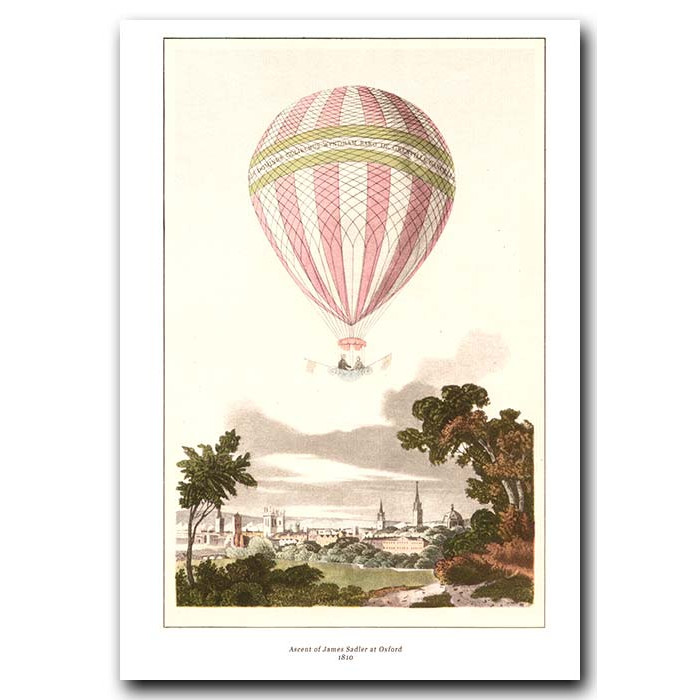 Fine art print for sale. Balloon Ascent Of James Sadler In Oxford In 1810