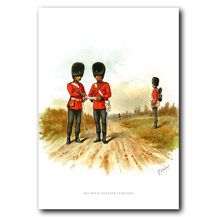 Fine art print for sale. The Royal Munster Fusiliers - British Army Unit