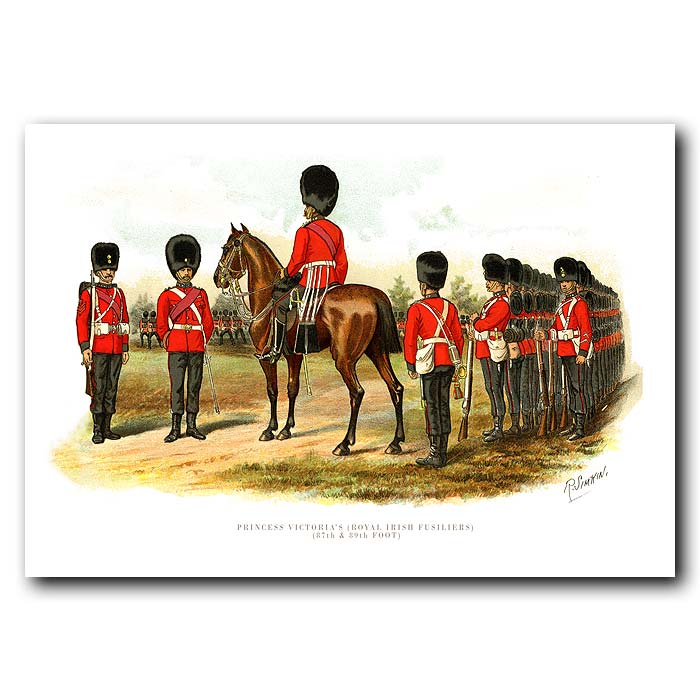 Fine art print for sale. The Royal Irish Fusiliers - British Army Unit