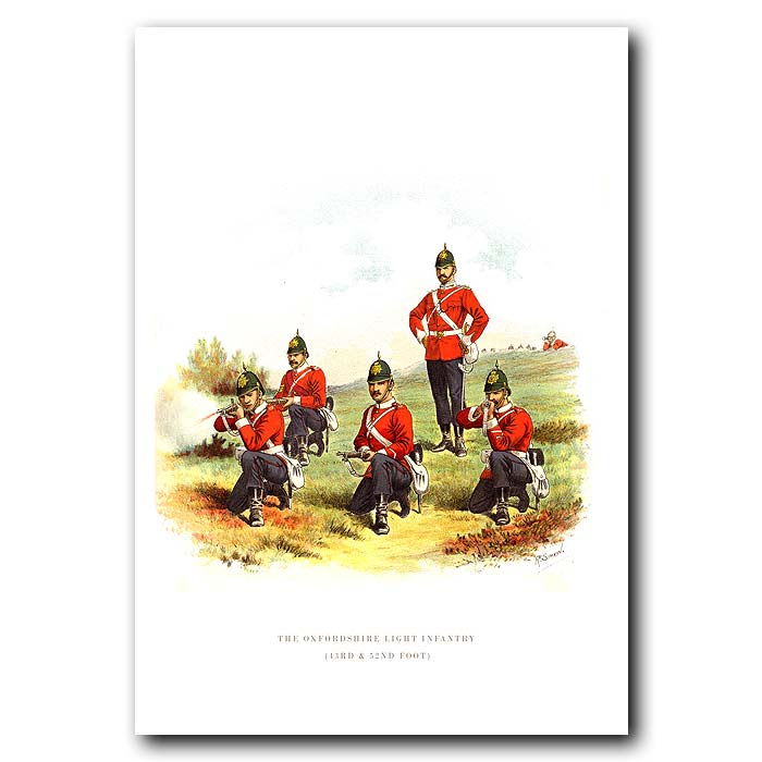 Fine art print for sale. The Oxfordshire Light Infantry - British Army Unit