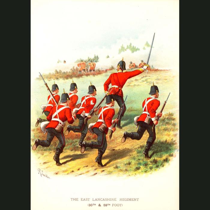 Fine art print for sale. The East Lancashire Regiment - British Army Unit