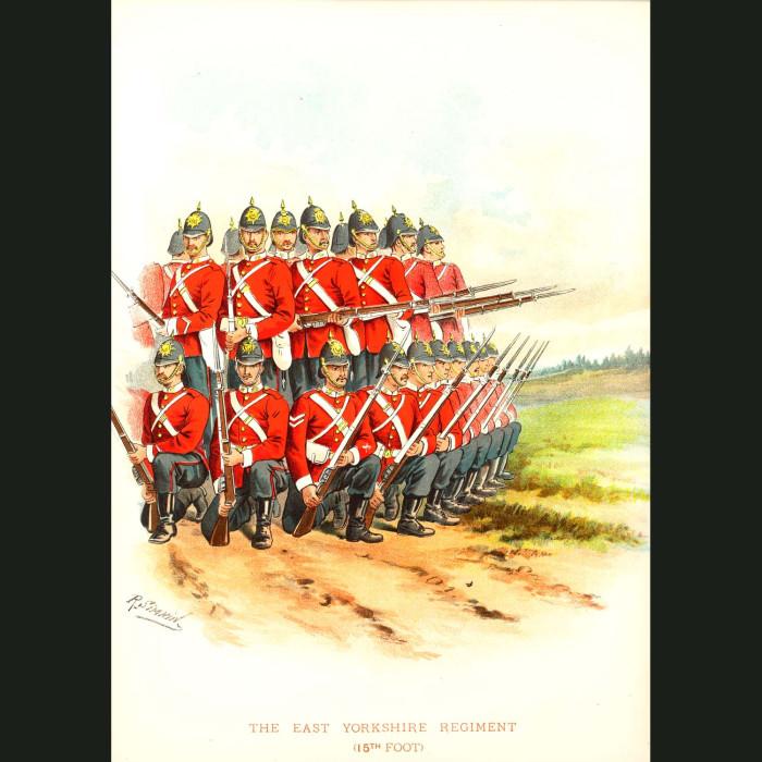 Fine art print for sale. The East Yorkshire Regiment - British Army Unit