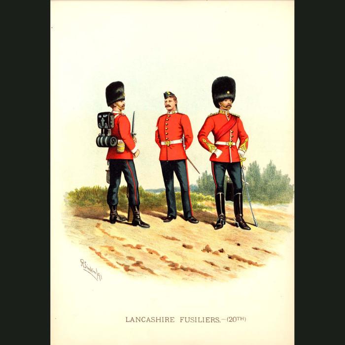 Fine art print for sale. The Lancashire Fusiliers - British Army Unit