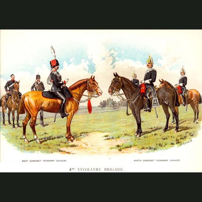 Fine art print for sale. The 4th Yeomanry Brigade - British Army Unit