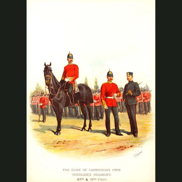 Fine art print for sale. The Duke of Cambridge's Own - British Army Unit