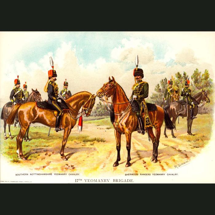 Fine art print for sale. The 17th Yeomanry Brigade - British Army Unit