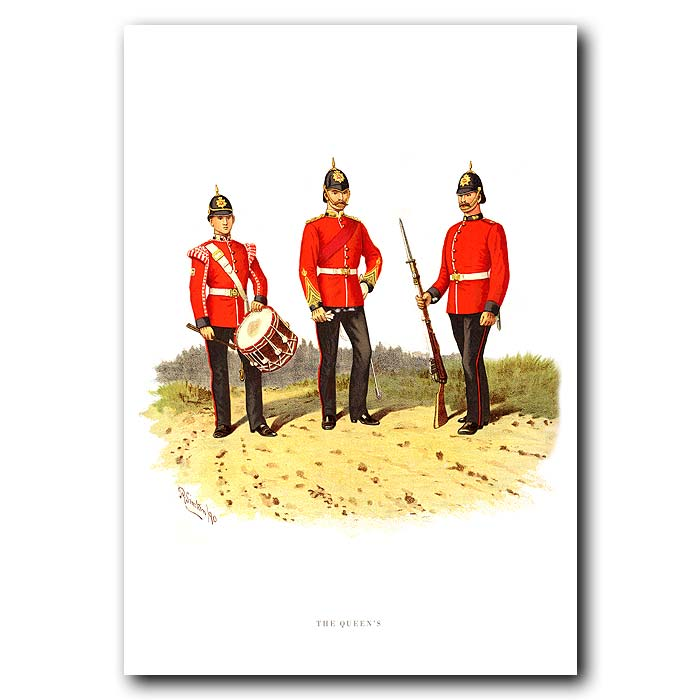 Fine art print for sale. The Queens - British Army Unit