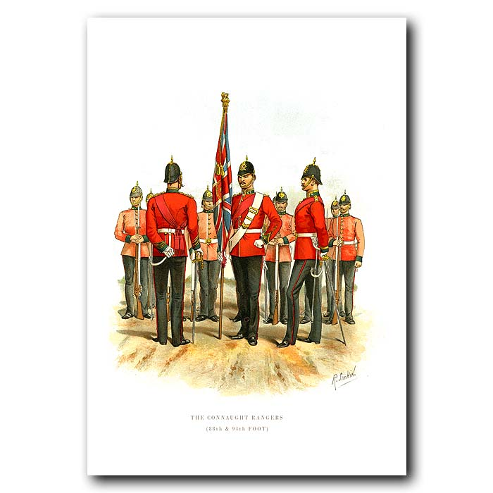 Fine art print for sale. The Connaught Rangers - British Army Unit