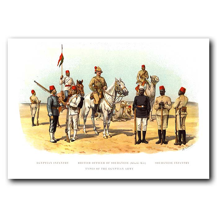 Fine art print for sale. Egyptian and Sudanese Infantry