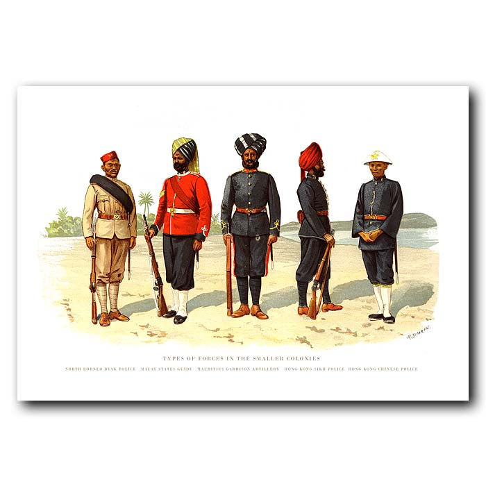Fine art print for sale. Military Police in the Colonies