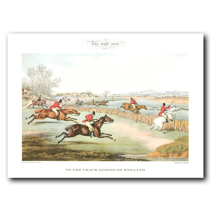 Fine art print for sale. The Right Sort. To the Crack Riders of England