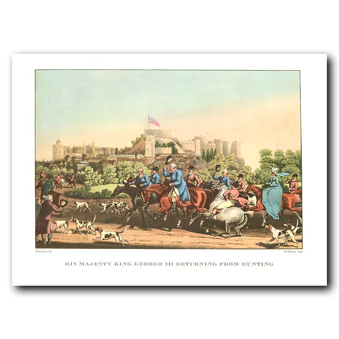 Fine art print for sale. His Majesty King George III returning from hunting