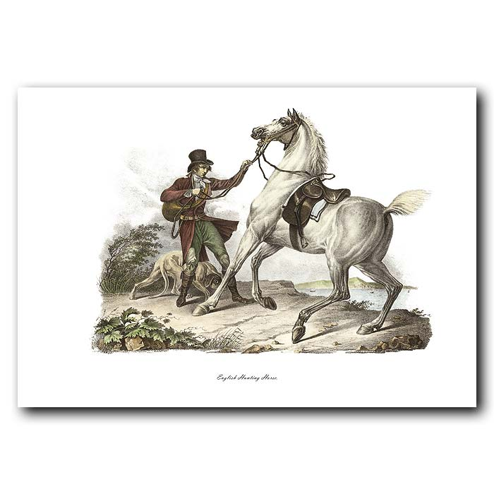 Fine art print for sale. English Hunting Horse