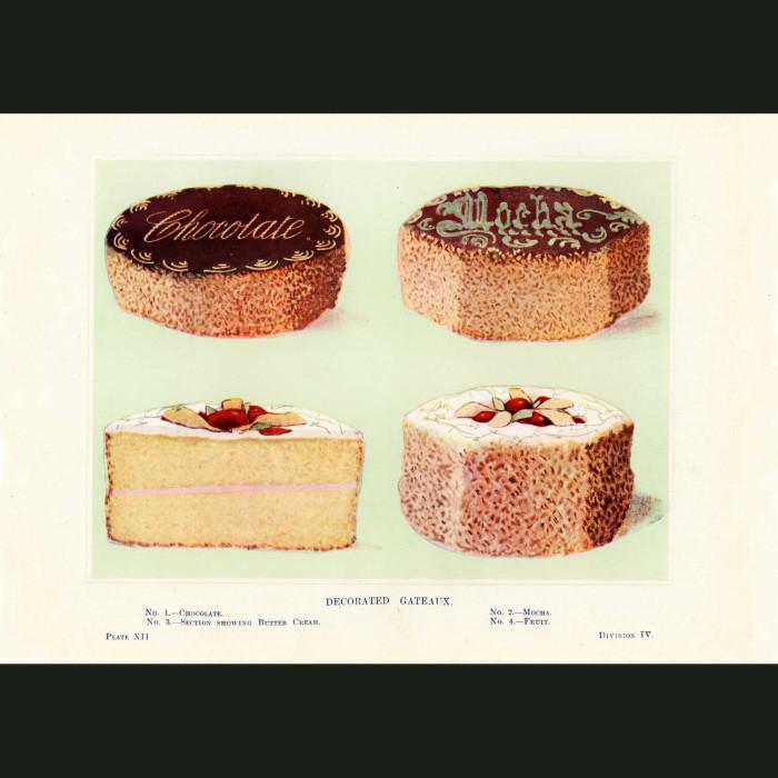Fine art print for sale. Decorated Gateaux Vintage Cakes