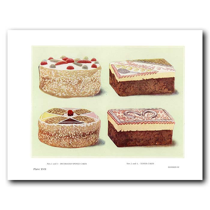 Fine art print for sale. Decorated Tennis Cakes And Sponge Cake