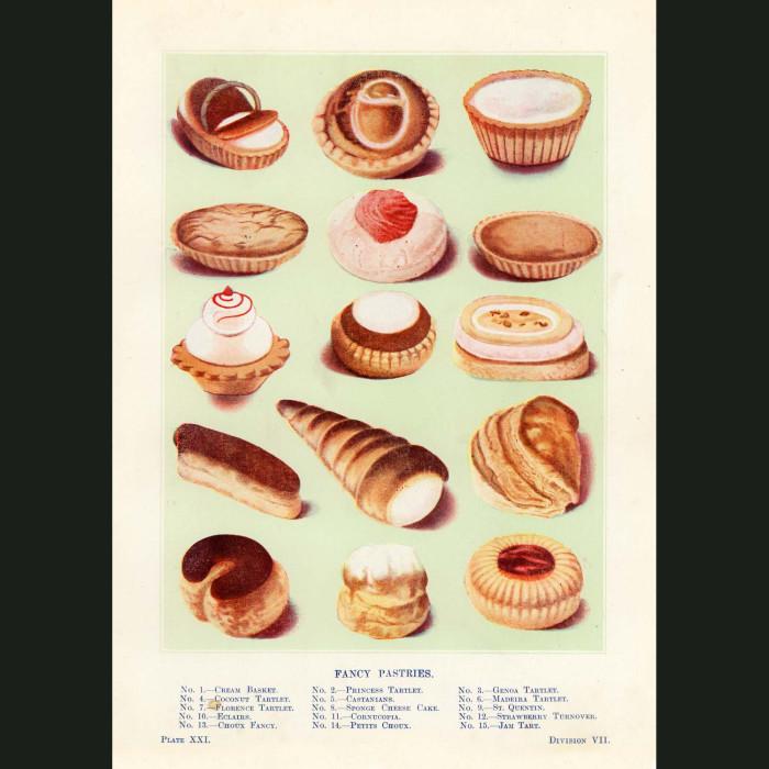 Fine art print for sale. Fancy Pastries