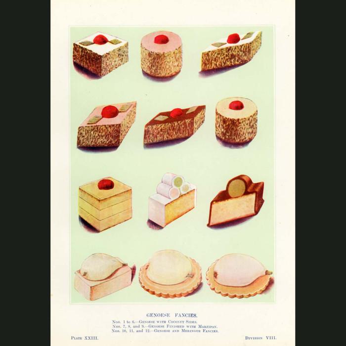 Fine art print for sale. Genoese Fancy Cakes
