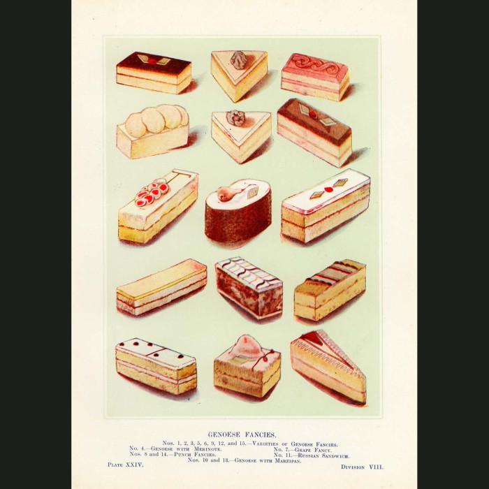 Fine art print for sale. Genoese Fancy Cakes (B)