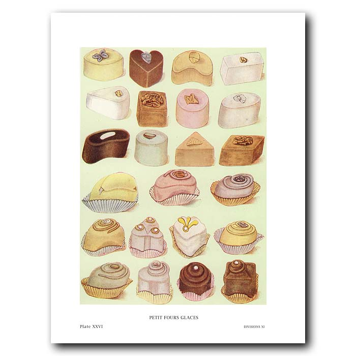 Fine art print for sale. Petit Four Glaces Cakes