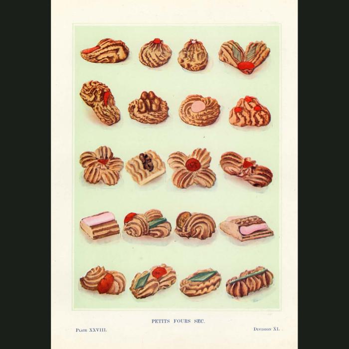 Fine art print for sale. Petit Four Sec Cakes