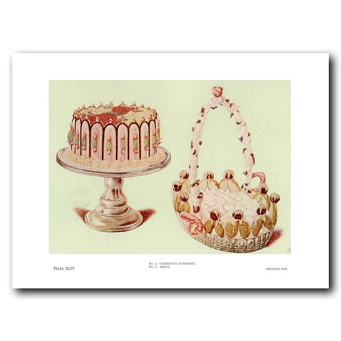 Fine art print for sale. Trifle And Charlotte Ecossaise