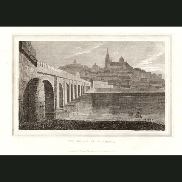 Fine art print for sale. The Bridge At Salamanca In Spain