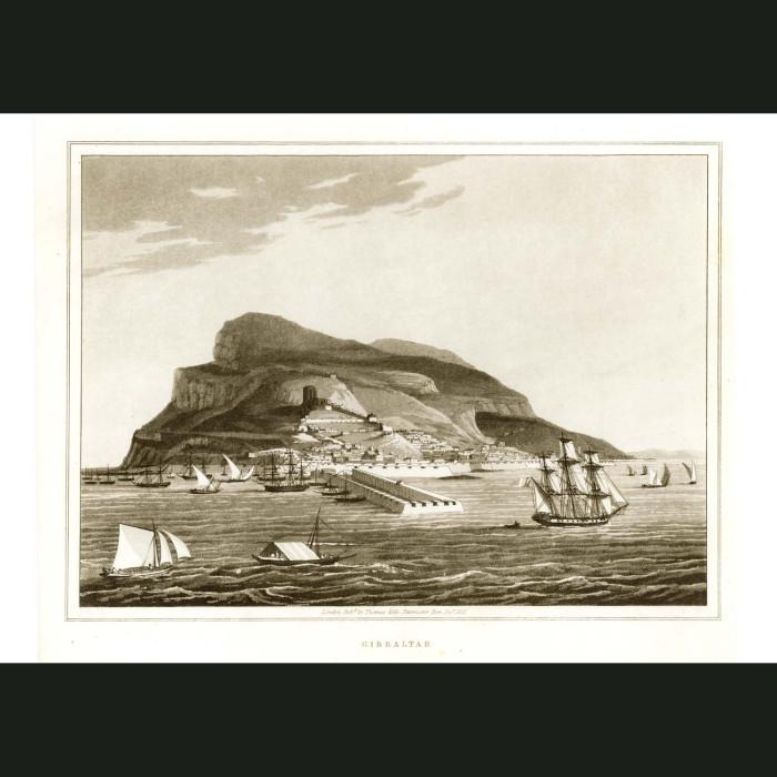 Fine art print for sale. Rock Of Gibraltar