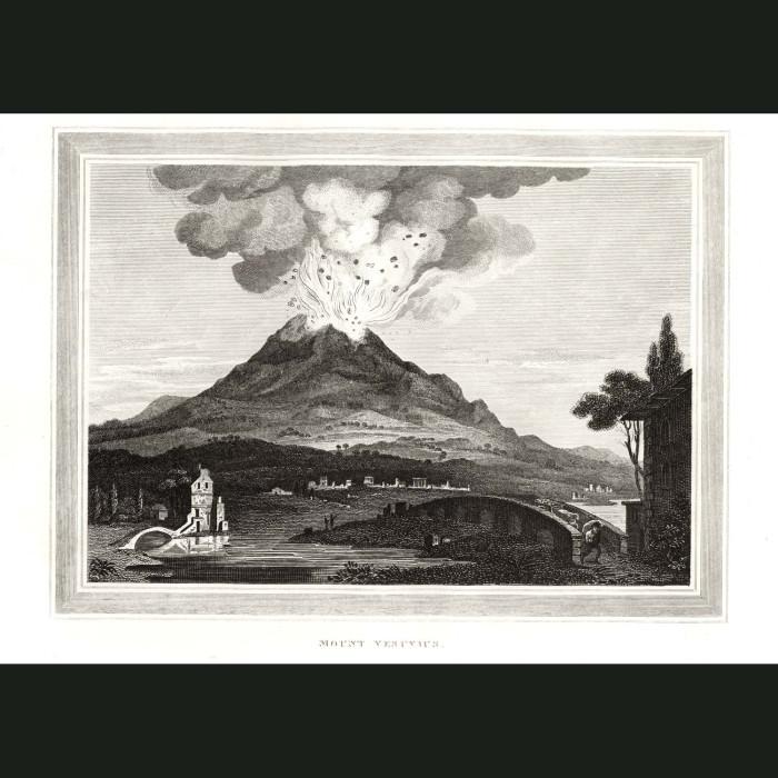 Fine art print for sale. Mount Vesuvius