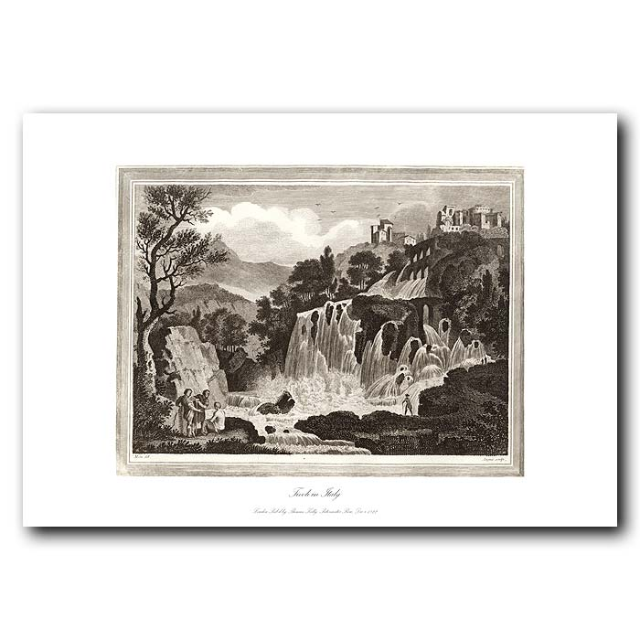 Fine art print for sale. Waterfall At Tivoli In Italy