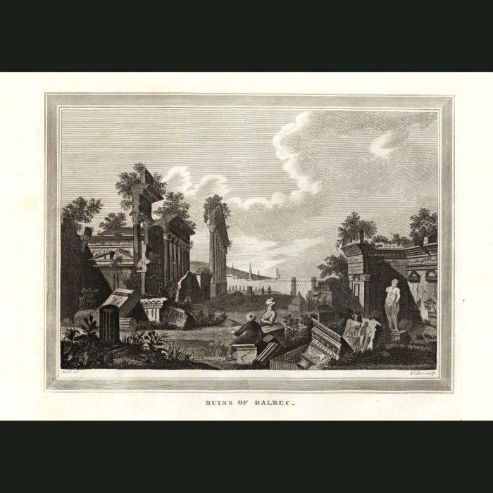 Fine art print for sale. Roman Ruins In Balbec, Lebanon