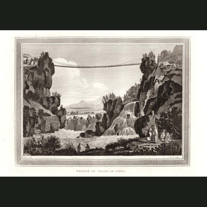 Fine art print for sale. Bridge Of Chains In China