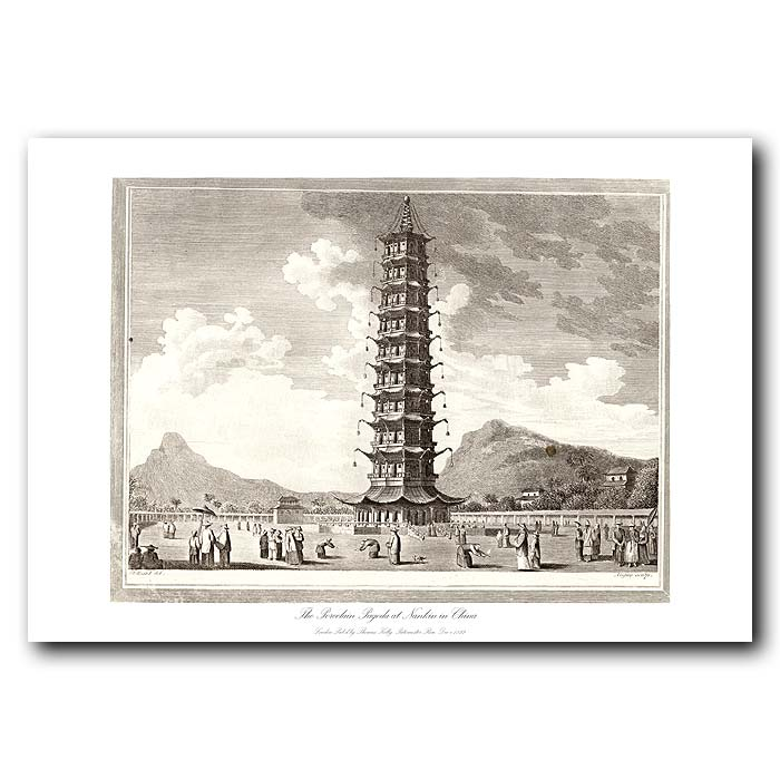 Fine art print for sale. Porcelain Pagoda In China