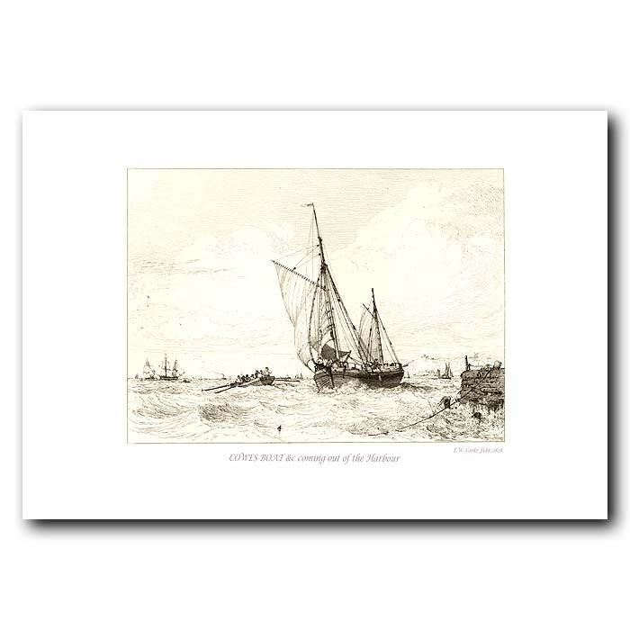 Fine art print for sale. Cowes Boat At The Isle Of Wight