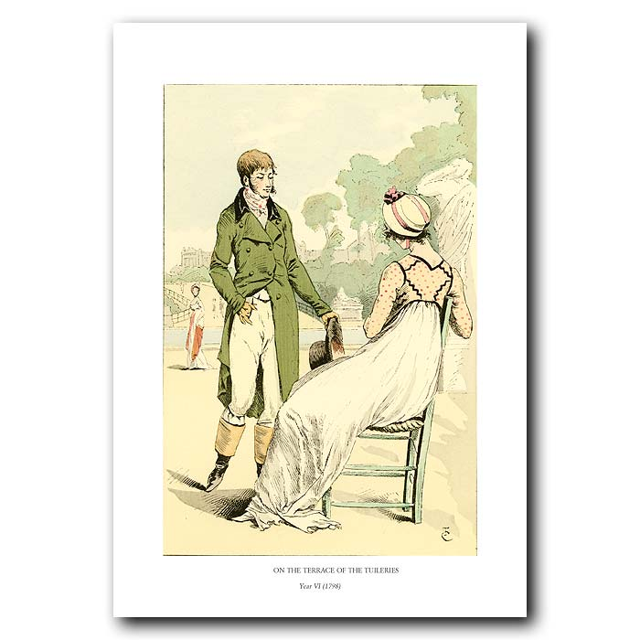 Fine art print for sale. Terrace Of The Tuileries In 1798