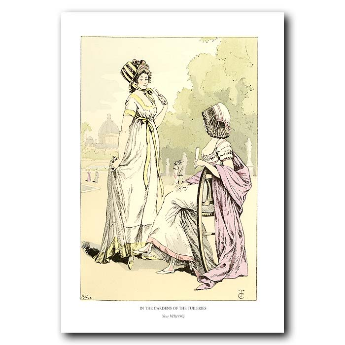 Fine art print for sale. Gardens Of The Tuileries 1799