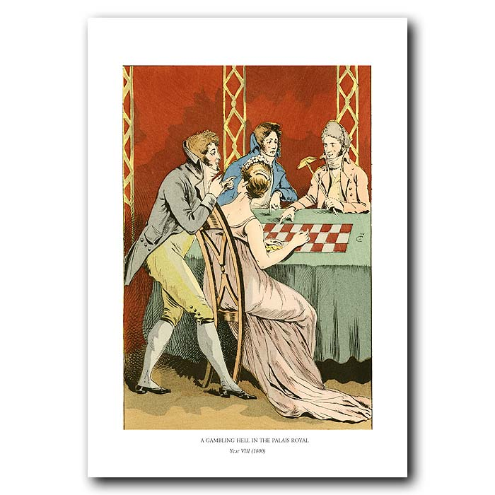 Fine art print for sale. Gambling In The Palais Royal