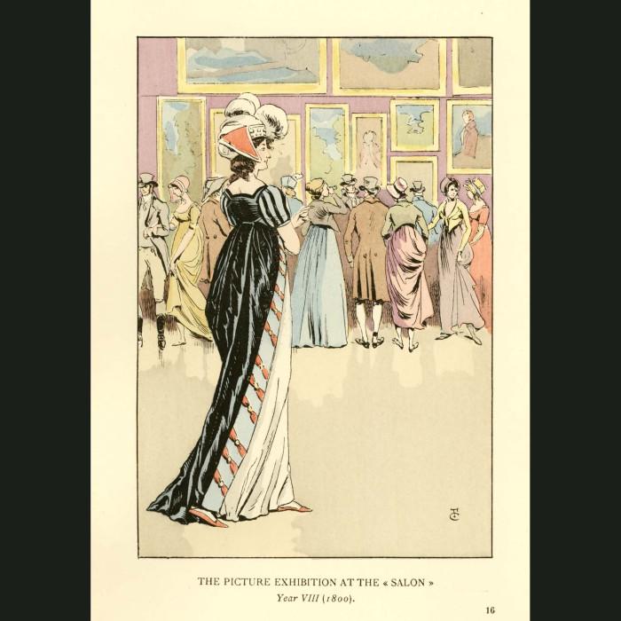 Fine art print for sale. Picture Exhibition At The Salon