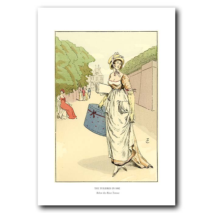 Fine art print for sale. The Tuileries In 1802