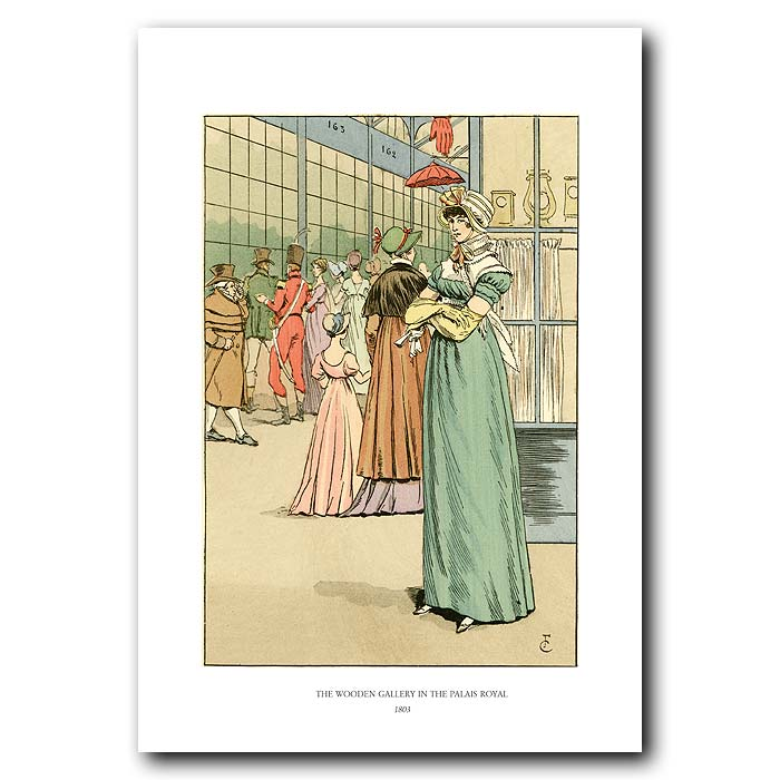 Fine art print for sale. The Wooden Gallery In The Palais Royal