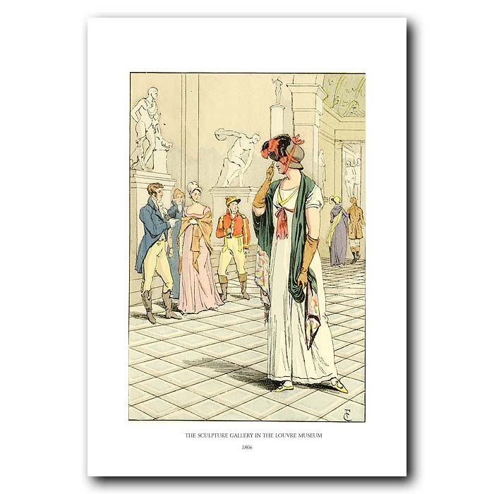 Fine art print for sale. The Sculpture Gallery In The Louvre Museum