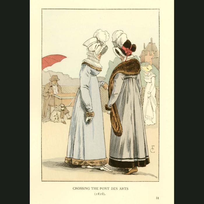 Fine art print for sale. Crossing The Pont Des Arts
