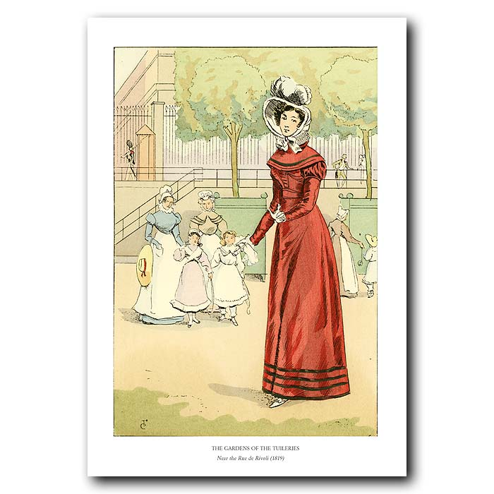 Fine art print for sale. Gardens Of The Tuileries 1819
