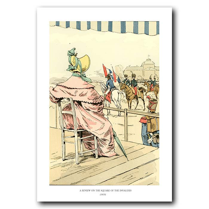 Fine art print for sale. Soldiers On Horseback 1835