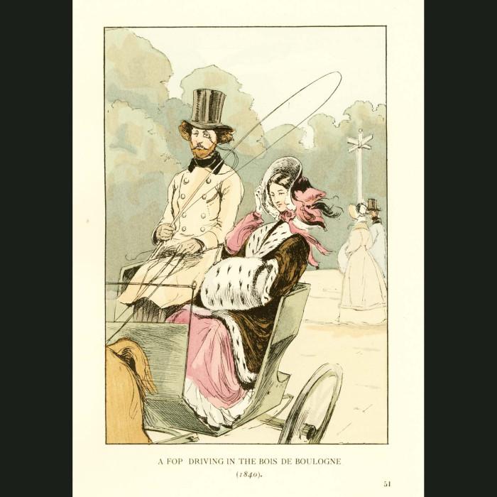 Fine art print for sale. Driving In The Bois De Boulogne