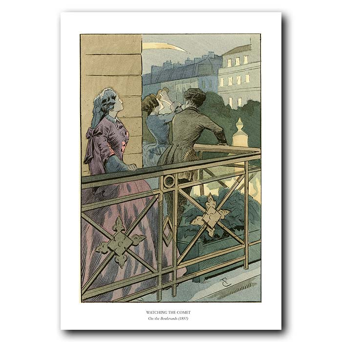 Fine art print for sale. Watching The Comet On The Boulevards