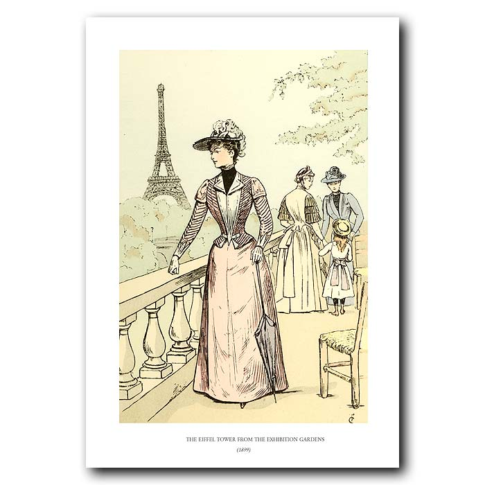 Fine art print for sale. Eiffel Tower From Exhibition Gardens