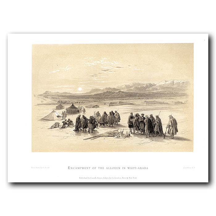 Fine art print for sale. Encampment Of Arabs