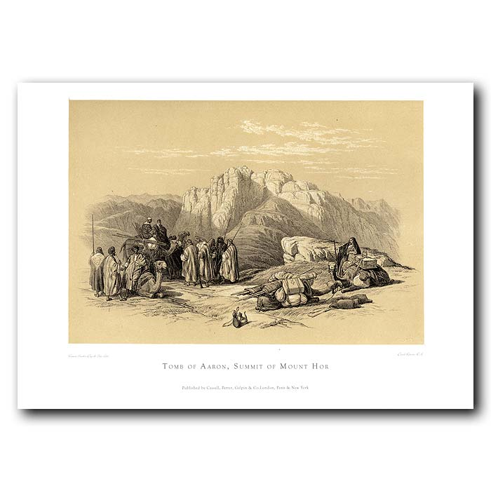 Fine art print for sale. The Tomb Of Aaron On Mount Hor